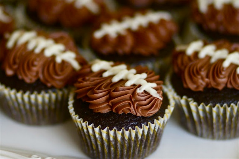 double chocolate football cupcakes audra the baker chick