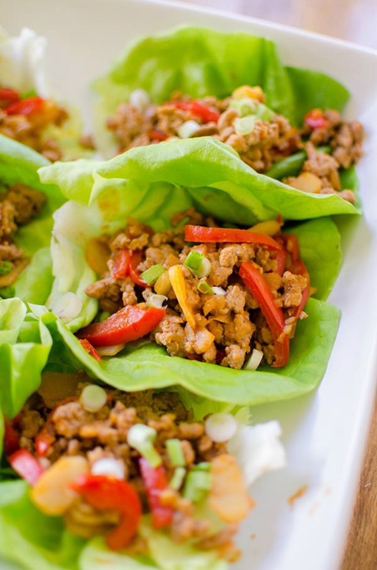 ginger and chicken lettuce wraps living lou