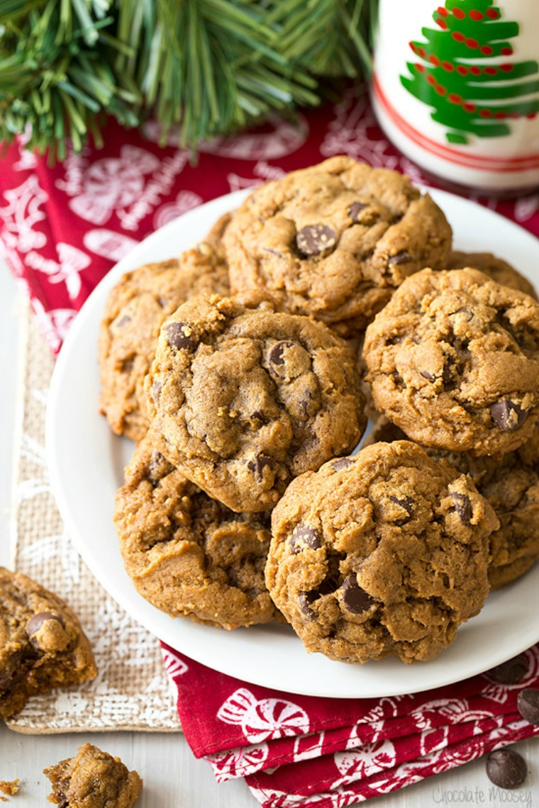 gingerbread chocolate chip cookies chocolate moosey