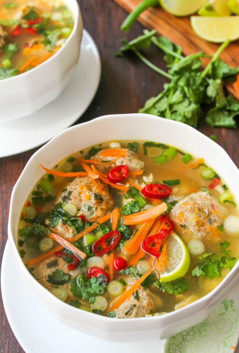 thai meatball and eggdrop soup a saucy kitchen
