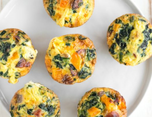 make ahead butternut squash spinach sausage egg cups real food whole life