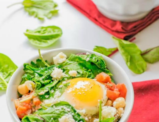 quinoa egg bowls trails to table