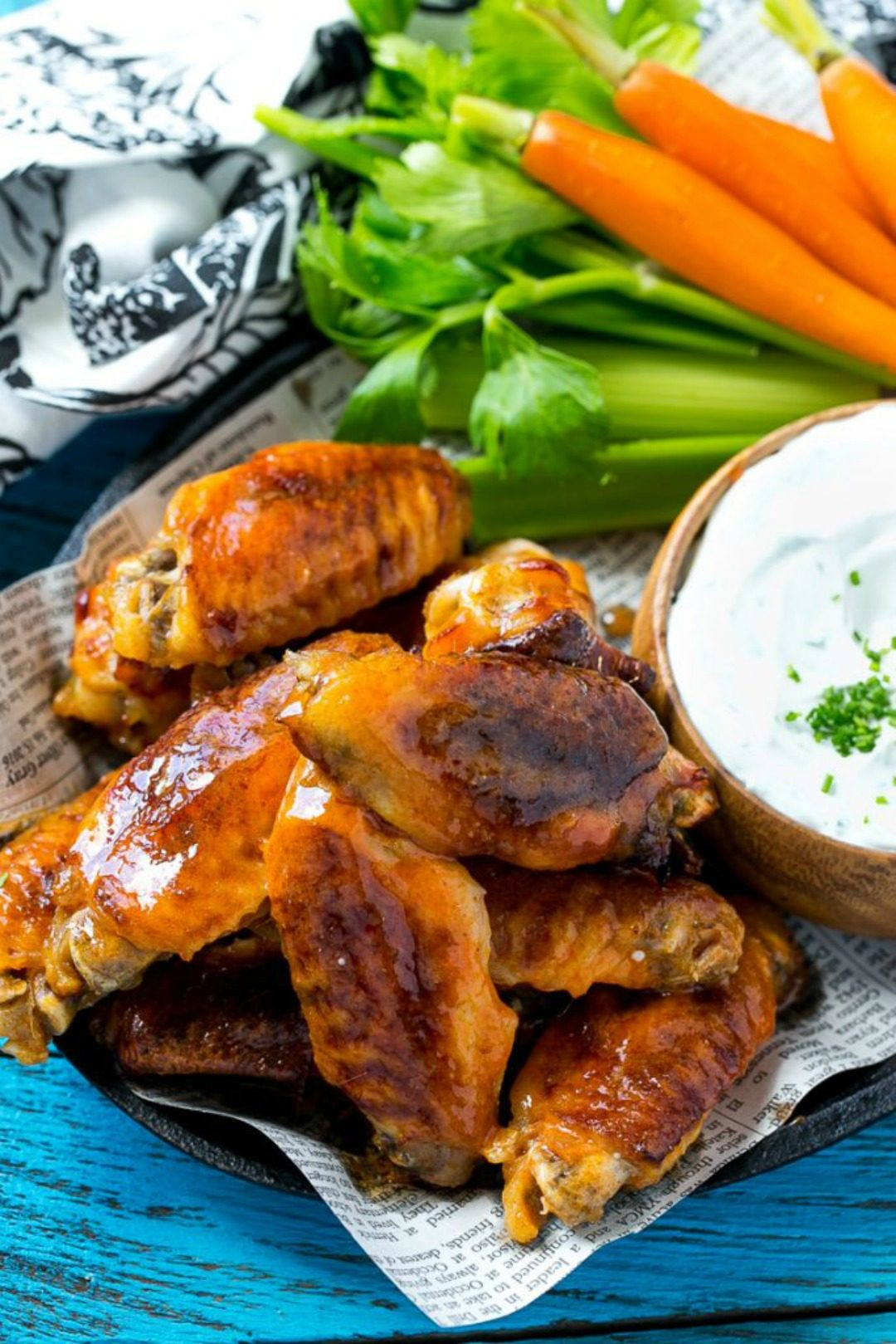 baked buffalo wings dinner at the zoo