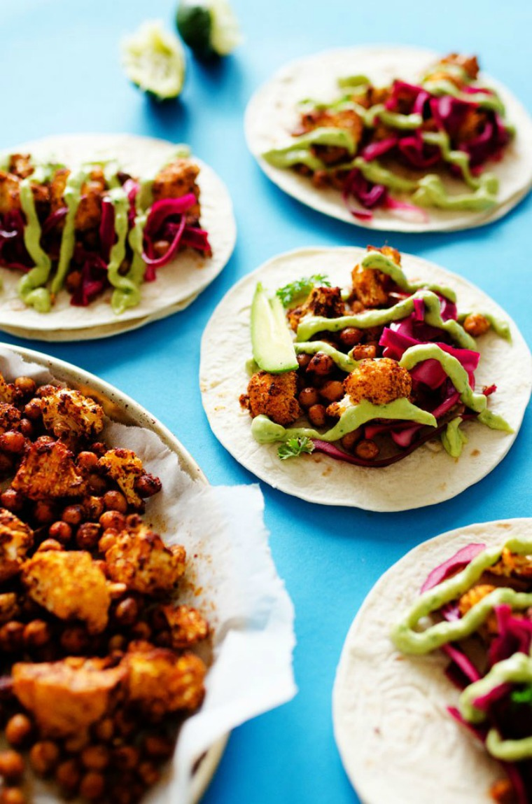 roasted cauliflower street tacos live eat learn