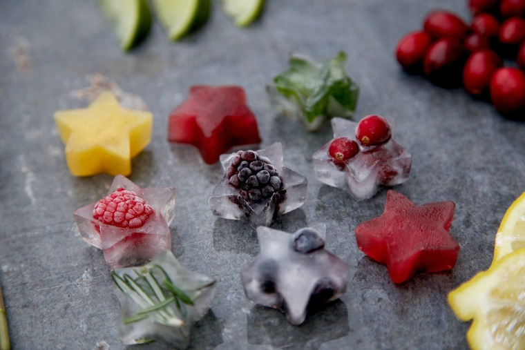 festive fruit ice cubes capture by lucy
