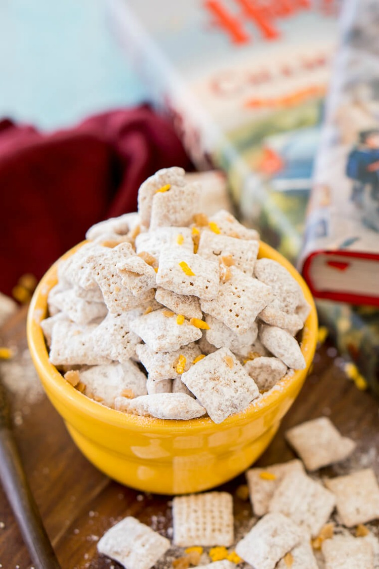 harry potter butterbeer muddy buddies hey lets make stuff