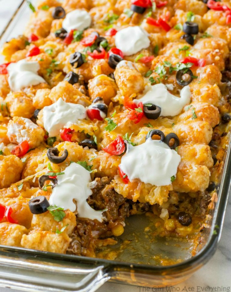 tater taco casserole the girl who ate everything