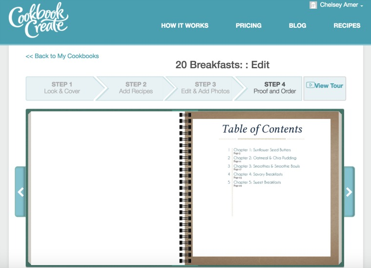 Editing the Table of Contents