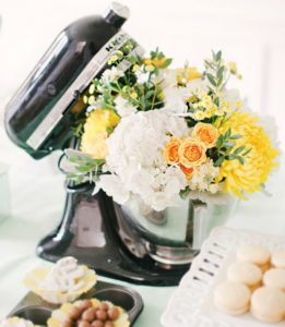 flower filled kitchenaid hostess with the mostess